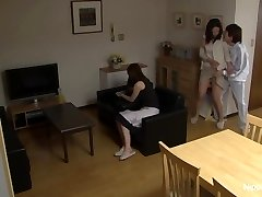 MILF gets plumbed while her friend tapes it
