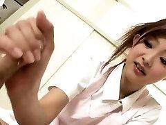 Sucky sucky session with a Japanese nurse