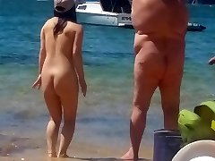 Asian girl at bare beach  Sydney part Two