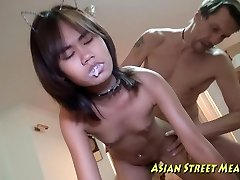 Asian Girlette Does Rectal For Love Money And Health