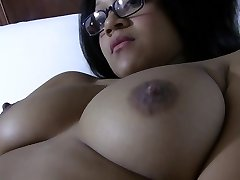 Huge-boobed Japanese girl lets you watch her masturbate