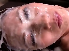Japanese Girl - Massive Amount Of Cum On Her Face