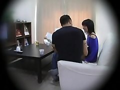 Subtitled Asian homestay gone wrong CFNM suck off