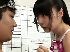 Slender Japanese swimmer Tsubomi fucked for multiple jizz shots