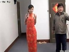 Asian gal in bondage