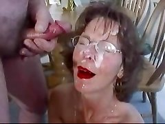 Extreme Mature Facial Plenty Of Jism