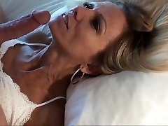 Small mature blonde POV facial and replay