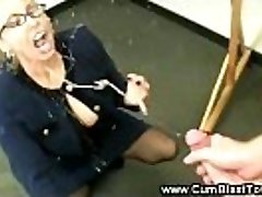 Super-naughty tutor has her students dick in her mature mouth