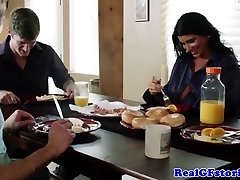 Cheating mature wifey banged by house guest
