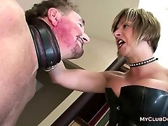 Mature Female Domination Loves Slapping Her Sub