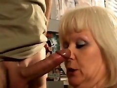 French blonde mature plowed at the sex store