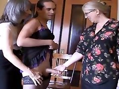 Mrs Enjoying and Ms Simone, tease and humilate this sissy dude