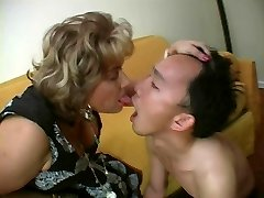 French Mature Domina and her Sub
