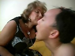 French Mature Dominatrix and her Slave