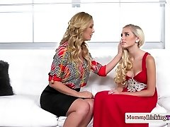 Classy mommy pussylicks and thumbs stepteen