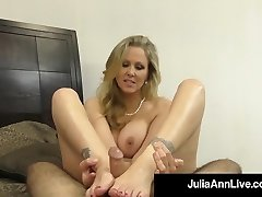Hot Fashionable Milf Julia Ann Takes A Cock In Her Mouth & Hands!