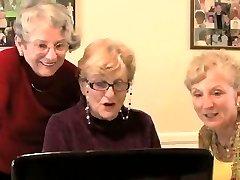 Grannys watch sex movie - very funny