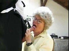Granny Smashing 2 Guys by snahbrandy