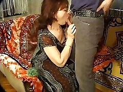 Mature dame with glasses likes getting torn up from the back