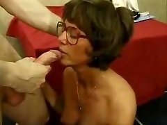 French mature with glasses