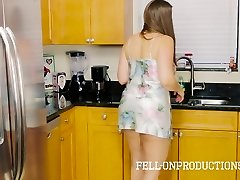 Stepmom COUGAR in Satin Nighty Boinking