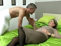 Sexy grandma blow and fuck lucky boy