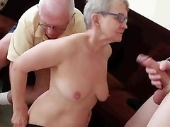 Senior spouse fucked with young man