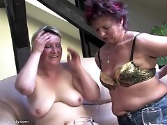 Mature hump soiree with moms and boy