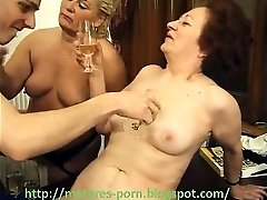 Grannies unshaved pussy and boy