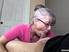 Mummy Litterally Salivates To The Young Rock-hard Cock