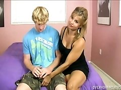 Mommy and Teen Handjob Madness