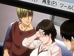 Big-chested Japanese anime porn mom hot gangbanged