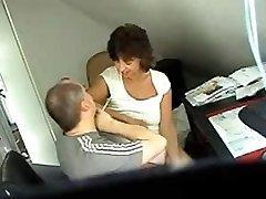 Hidden romp web cam clip shows a couple fucking