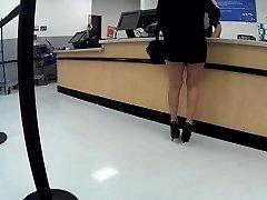 Latina granny high heels short cutoffs(Playtime)