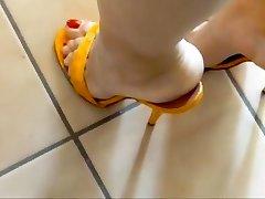 14 cm gelbe kroko steilpantos