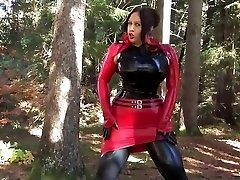 Busty Halloween Sweetheart - Outdoor Blowjob Handjob with Latex Mittens - Cum on my Mittens