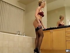 The Perect Wife in High Heels and Lingerie