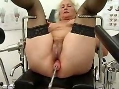 Grandma Norma Works out on a Intercourse Machine