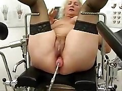Granny Norma Works Out On A Hookup Machine