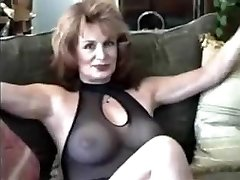 Milf in black underwear