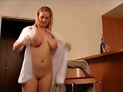 mature man pulverizes the hotel maid