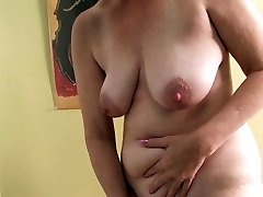 Ray Lynn mature faux-cock onanism