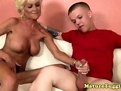 Tattooed granny masturbating midgets hard cock