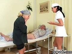 Naughty Scorching Nurse Helps Aged Patient To Get Laid