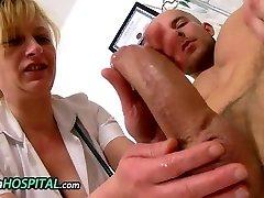 Euro milf therapist Gabina hj a young penis