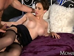MOTHER Office woman in stockings wants rock-hard cock