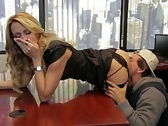Divine blonde mommy Jessica Drake is smashed indeed well