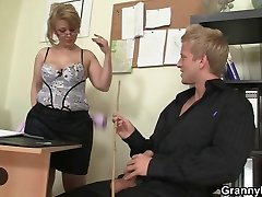 Office lady ravages her worker