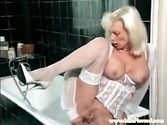 I am Pierced granny with poon piercings Anal fucktoys play