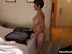 Busty chinese MILF behind the scenes